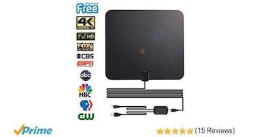 TV Antennas for Free Cable TV (6 Antennas + TV Remote)