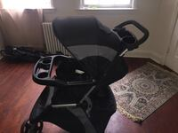 black and gray tandem stroller Baltimore