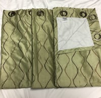 Silk- fully lined curtains Franklin, 37069
