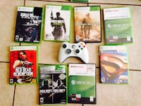 white Xbox 360 game console with game cases Pharr, 78577