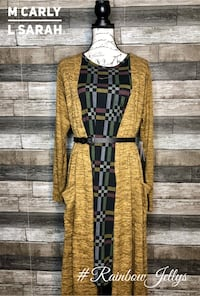 brown and black stripe long-sleeved dress Vienna, 22181