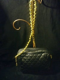 Black Padded Bag with Gold Chain Shoulder St St. Louis, 63136