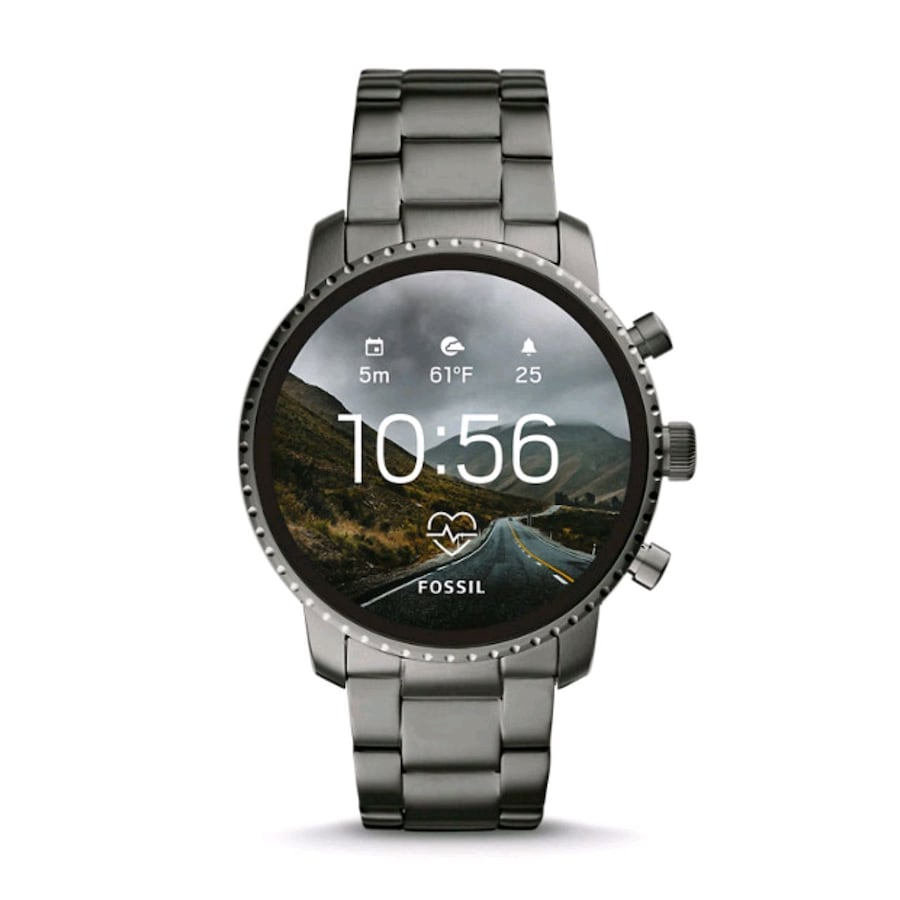 FOSSIL Explorist HR Smoke Stainless Steel Android Smart Watch