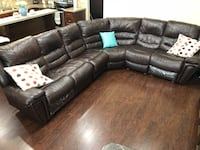 Genuine leather reclining sectional Surrey, V3X 0C7