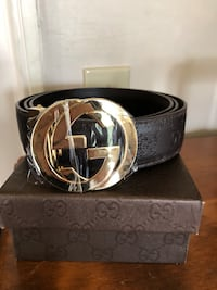black and silver Gucci belt Clear Brook, 22624