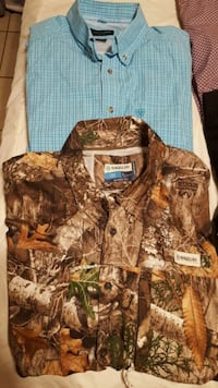 brown and green camouflage zip-up jacket Laredo, 78040