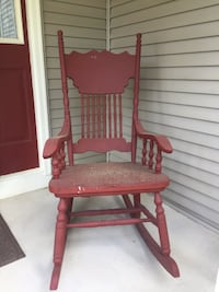 Oak Rocking Chair painted red