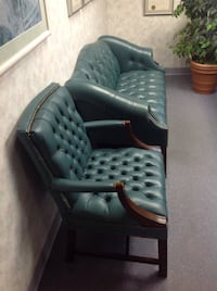 Leather loveseat and chair  Fredericksburg, 22407