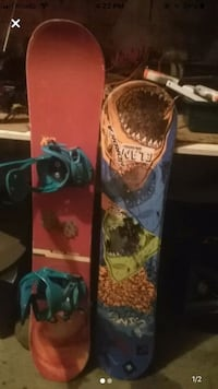 K2 spit fire board and sims board good condition