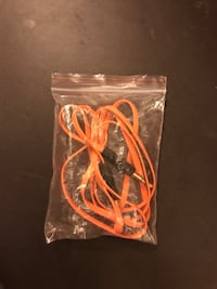 Black and orange bluetooth earphones Vancouver, V6R 3A6