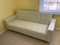 Like-new white daybed/futon