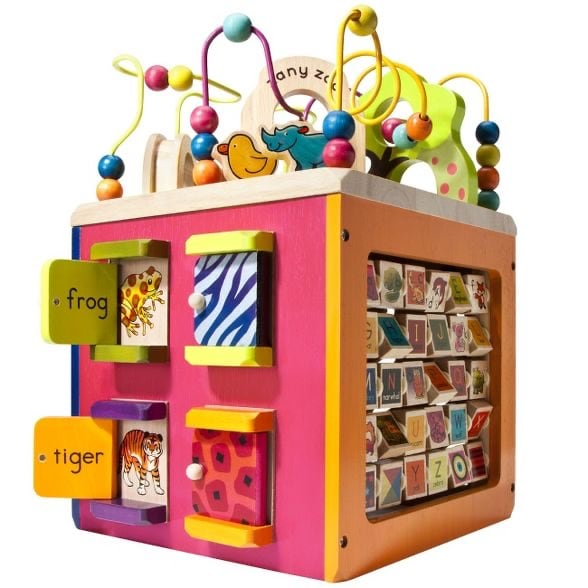 Wooden Activity Toddler Cube