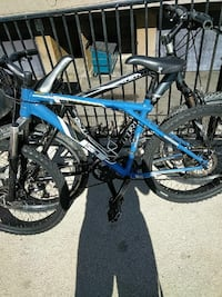 blue and black mountain bicycles Stanton, 90680
