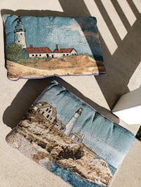 Set of 2 Lighthouse Accent Pillows