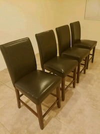 4 Counter Height Faux Leather Chairs Henderson, 89011