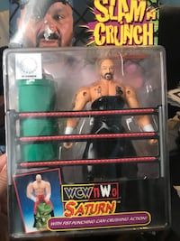 Extremely RARE WCW NWO Perry Saturn Toybiz Figure In Box Raven's Flock