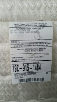 FREE SERTA BOX SPRING for QUEEN SIZE BED Coconut Creek
