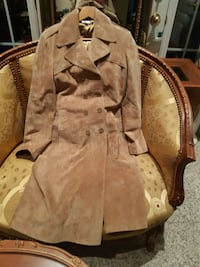 Sandra angelozzy so soft suede leather coat size,40 Richmond Hill, L4C 6E4