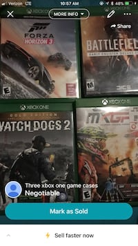 four Xbox One game cases screenshot Redding, 96002