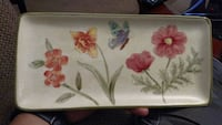 Ceramic Snack Tray- Flowers & Butterfly Yucaipa, 92399