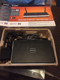 black D-link wireless router with box Brantford