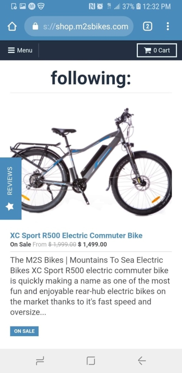 Used Xc Sport R500 Electric Commuter Bike M2s Bikes 200 Helmet