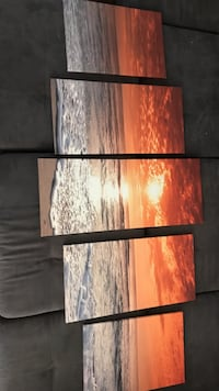 The sea during golden hour 5-panel painting Santa Rosa, 95407