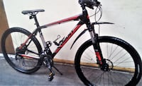 black and red Salcano hardtail mountain bike Vancouver