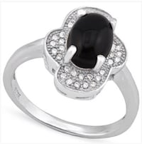 Black onyx and white sapphire ring Spring Hill, 34608