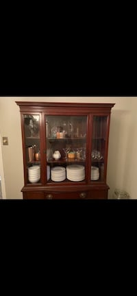 Antique Solid Wood Mahogany finish Breakfront China Cabinet Gaithersburg, 20879