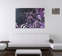 Purple Art Piece in Canvas-Limited Edition-Brand New Houston, 77056