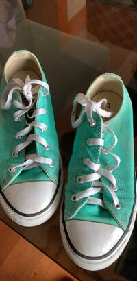 Pair of teal converse size 3all star low top sneakers Katy, 77449