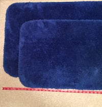 Set of 2 Bright Blue Rugs 2067 mi