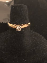 14K Yellow Gold, 0.25 cwt Diamonds Edmonton, T6H
