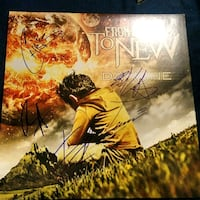 From Ashes To New autographed Day One vinyl album Edmonton, T6H 5G1