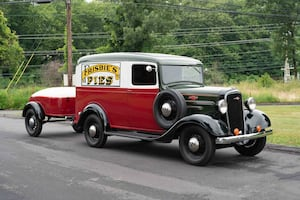 1936 Chevy Delivery Truck and Mullins Trailer (amazing combo) mint!