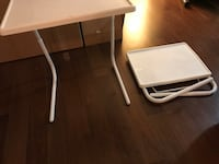Fold away tables side tables end tables white  Vancouver, V5Z 4N3