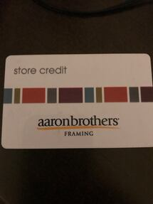 Aaron brothers framing gift card 75$