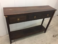 Brown wooden 3-drawer console table Toronto, M1H 2W5