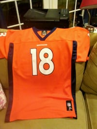 Youth Broncos Manning #18 football jersey. Sharon, 02067