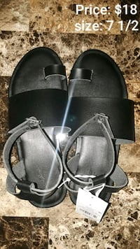 pair of black leather sandals Edinburg, 78539
