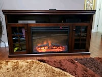 Electric fire place  TV stand with remote control