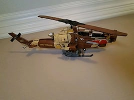 Metal decor Army Helicopter