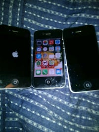3 iphone 4's. All unlocked and no icloud..