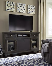 Townser Grayish Brown LG TV Stand with Large Integrated Audio Insert | W636-30 Houston, 77036