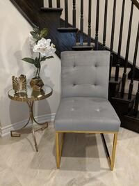 gold and grey accent / dining chair.