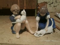 Vintage boy and girl holding cat ceramic figurines Lafayette, 47904