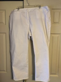 "Talbots Women's Size 20W White Capri Pants, 25.5"" Inseam Baltimore, 21236"