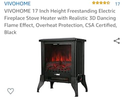 """BRAND NEW 17"""" ELECTRIC FIREPLACE"""
