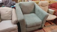 Sage green microfiber sofa chair